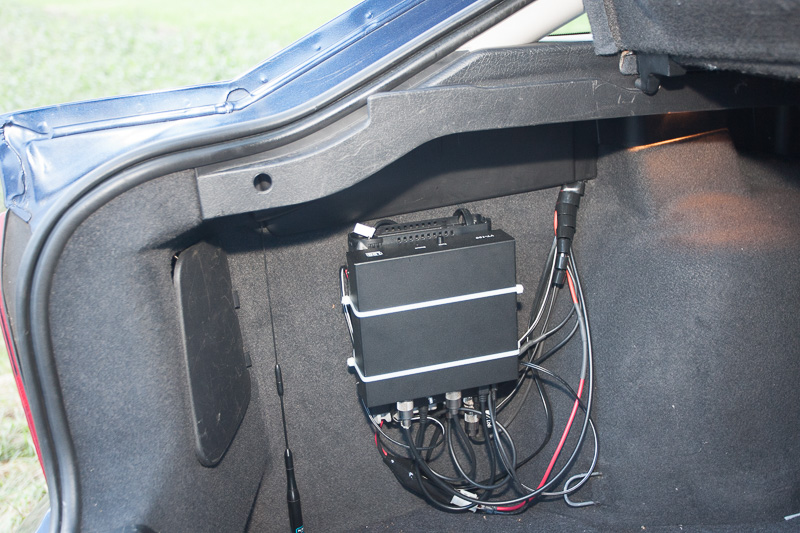 Radio position in the back of the car